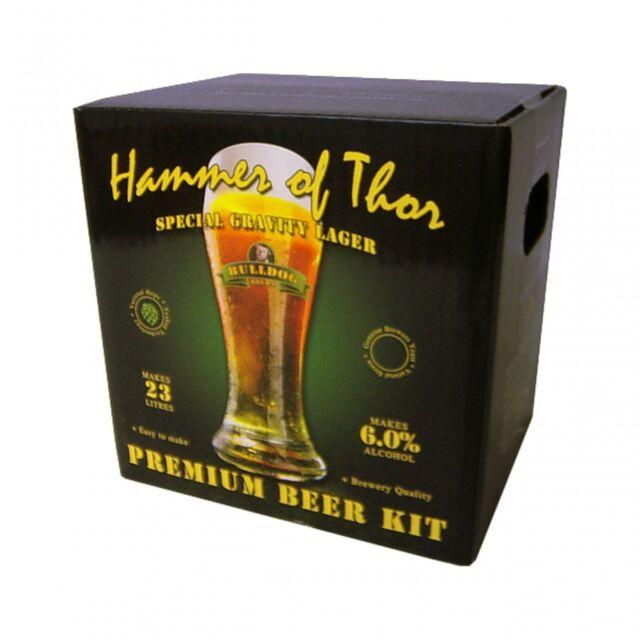 Bulldog Brews HAMMER OF THOR Lager Kit Home Brew Refill Ingredient Ale 40 Pints