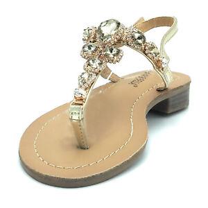 taglia 40 1ab3a 78d33 Dettagli su Sandali infradito stile positano moda mare gioiello strass  pietre donna eleganti