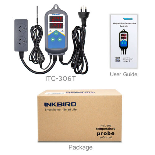 AU PLUG 240V ITC-306S Temperature Controller Timer Temp heater heating control
