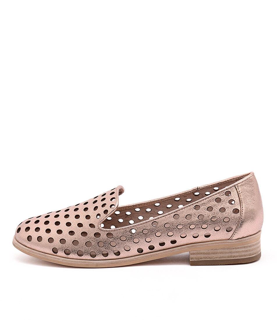 New Mollini Queff Rose Gold Metallic Womens Shoes Casual Shoes Flat