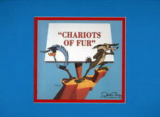CHARIOTS OF FUR PRINT PROFESSIONALLY MATTED Warner Bros Roadrunner Wile E Coyote