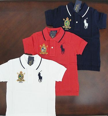 NWT Ralph Lauren Infant Boys L//S Red Classic Solid Mesh Polo Shirt 6m 9m NEW $35