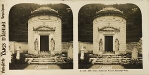 ITALIE-Come-Camnago-Volta-Tombe-Photo-Stereo-Vintage-Argentique-PL60L11