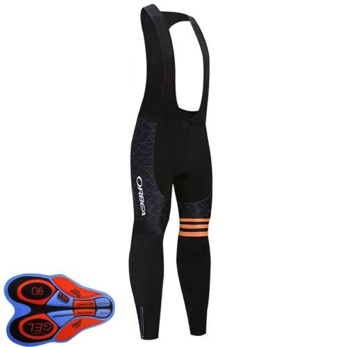 New Cycling Bib Pants Men/'s Long Pants Team Bike Trousers Gel Pad Bicycle Tights