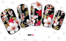 Calcomanías de transferencia de Agua Pegatina de arte en uñas flores floral (DC151)