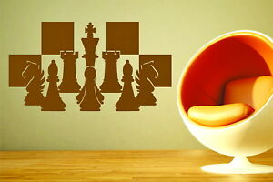 Details about Chess Pieces Chessboard Setup Board Game Strategy Vinyl Wall  Art Sticker Decal