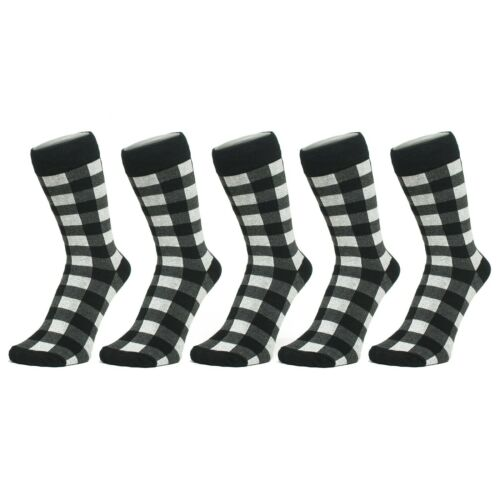Size: 4-7 6 PACK Black And White Checked Ankle Socks