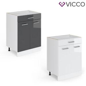 VICCO Schubunterschrank 60 cm Küchenzeile Unterschrank R-Line