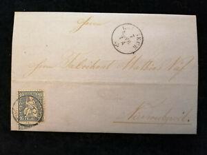 Schweiz-Brief-Stempel-1864-St-Gallen-Zurich-Sitzende-Helvetia-10-C-Nr-27