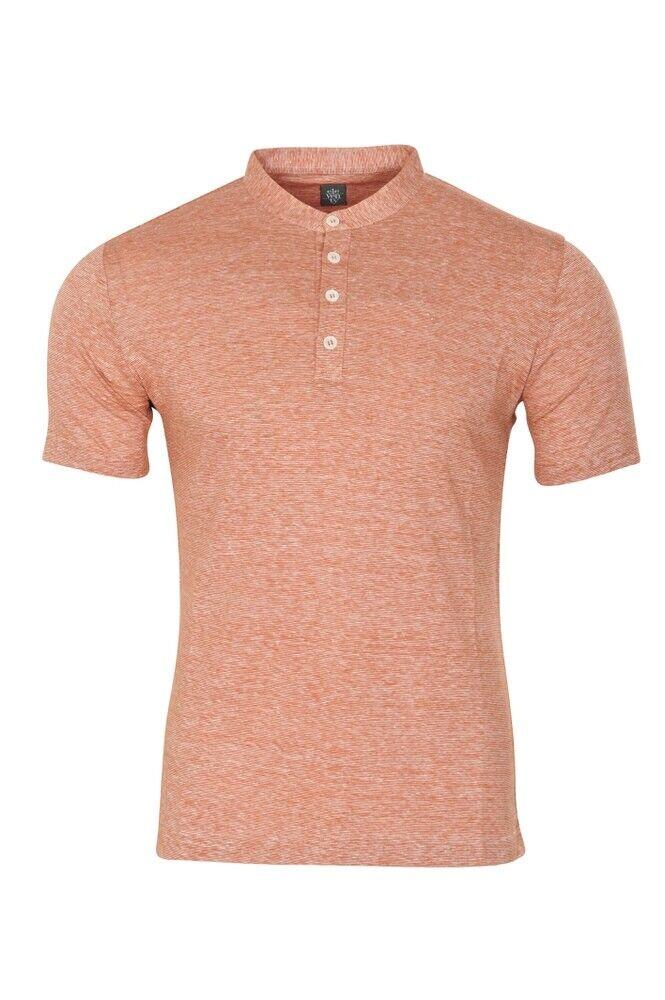 Eleventy T-Shirt Herren M DunkelOrange Linen   Twill