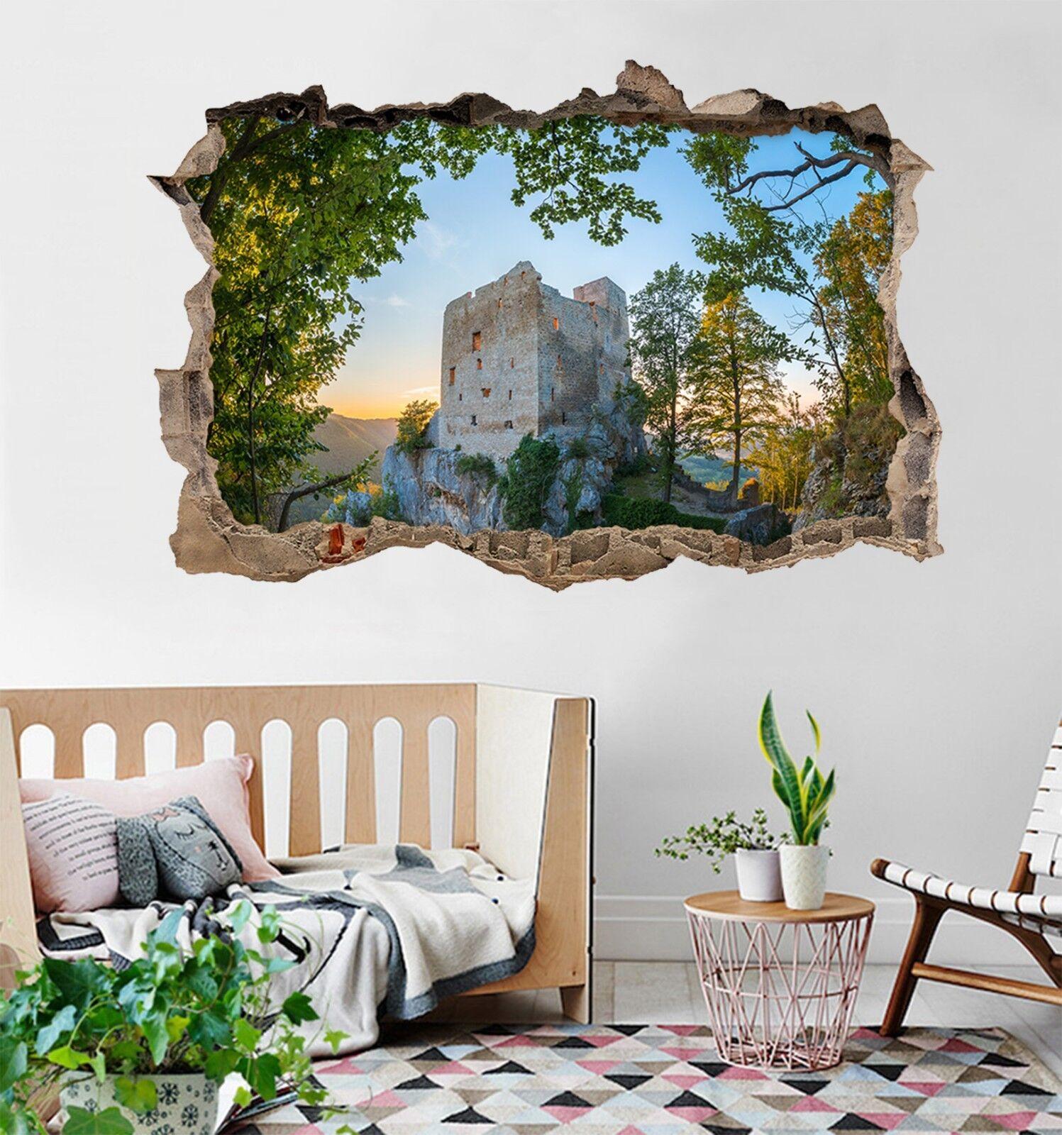 3D Bergspitzenhaus Mauer Murals Mauer Aufklebe Decal Durchbruch AJ WALLPAPER DE