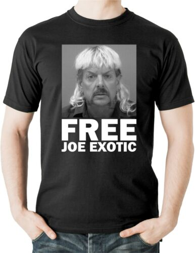 Free Joe Exotic T-Shirt Tiger King Carole Baskin Big Cat Tee Top NETFLIX