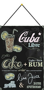 Cuba-Libre-Recipe-Cocktail-Shield-with-Cord-Tin-Sign-7-7-8x11-13-16in-FA0213-K