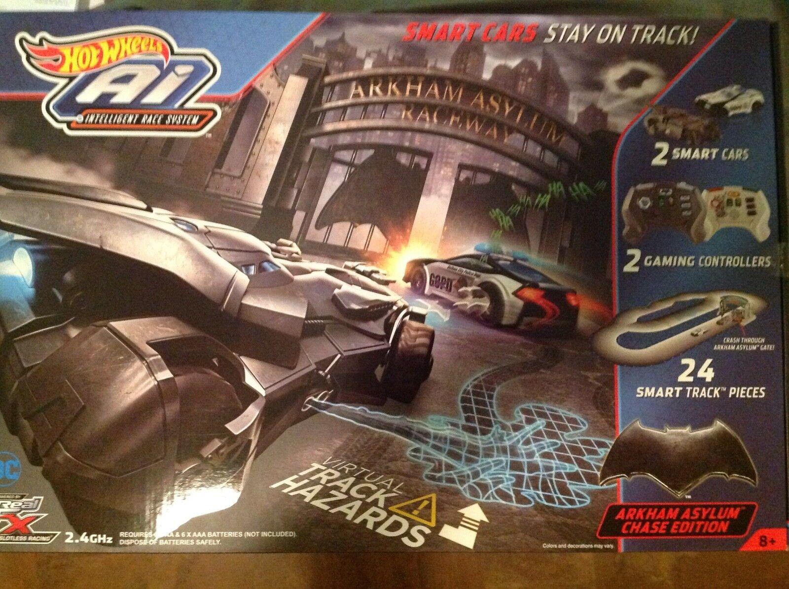 Hot Wheels AI Starter Set Arkham Asylum Chase Edición Juego de pista