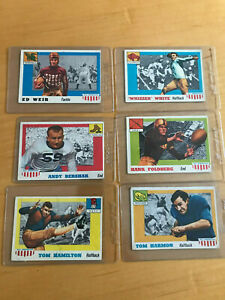 1955-Topps-football-All-American-starter-set-14-diff-cards-fair-gd-cond