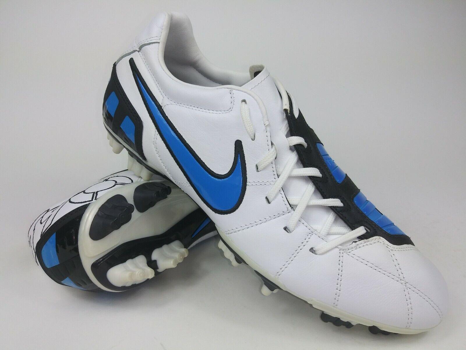 Nike Hombre Rareza Total90 Dispara Lll L-FG blancoo Azul 385401-141 Fútbol Tacos