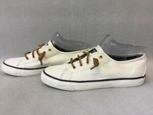 e8dba45ea52859 Sperry Top-Sider STS90549 Women's Seacoast Canvas Ivory Sneakers ... sperry  top sider