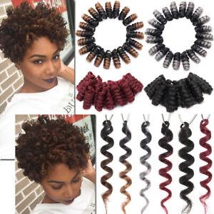 Kanekalon Braids Jamaican Bounce Curly Short Spring Twist Loops Crochet Hair Lcy Ebay