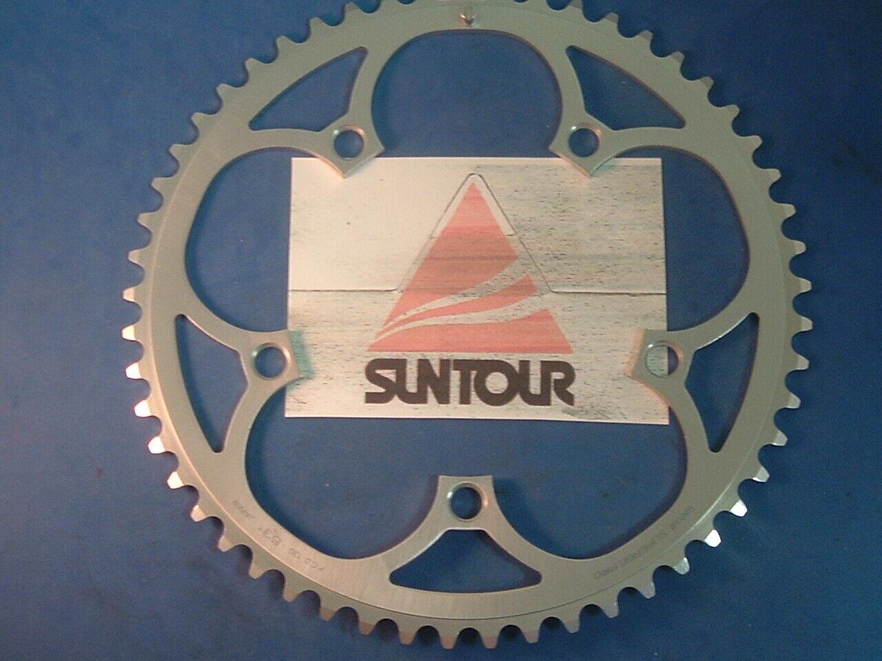 SunTour Japan Superbe Pro 53Tx130BCD Road Chainring- NEW NOS Vintage-5 6 7 8-Spd
