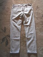 Mens Globe Jeans Lo Slung Deep Crotch Dirty White Jeans 34
