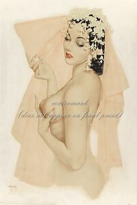 "SincèRe Alberto Vargas Pin-up Art Poster Ou Toile Imprimé ""vargas Girl"" #50-afficher Le Titre D'origine"