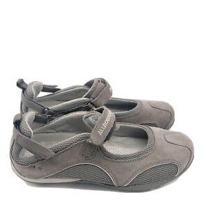 Mephisto-Allrounder-Niro-Leather-Hiking-Mary-Janes-Size-9-Gray