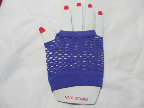 Neon Fishnet Fingerless Fashion Wrist Gloves