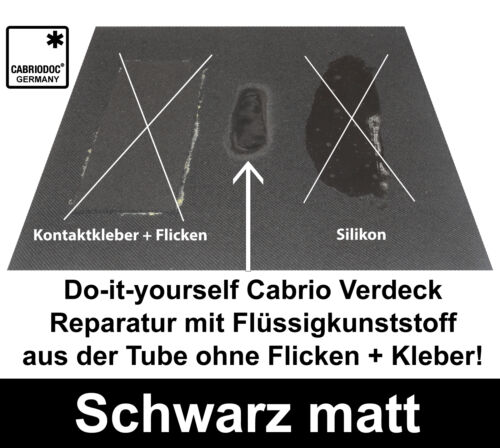 Cabrio Verdeck Reparatur Set Schwarz Stoffdach Kunststoffdach für alle VW