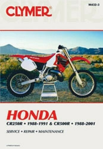 honda cr500 cr500r clymer repair manual cr 500 88 01 ebay rh ebay com 1984 honda cr500 service manual 1995 honda cr500 service manual