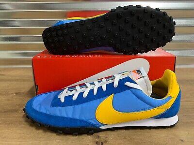 Nike Waffle Racer Retro Running Shoes Coastal Blue Amarillo Gold Sz Cn5449 400 Ebay