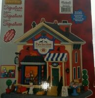 Lemax Signature Collection Lighted Village Building Pawfection Pet Foods Bakery