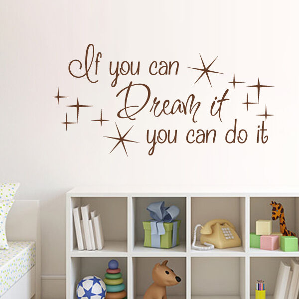 """Motivation Quote /"""" IF YOU CAN DREAM IT ACHIEVE IT /"""" Vinyl decal Die Cut Sticker"""