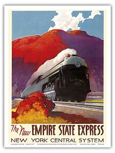 1920s American Railway Express Mercury Vintage Style Travel Poster 16x24