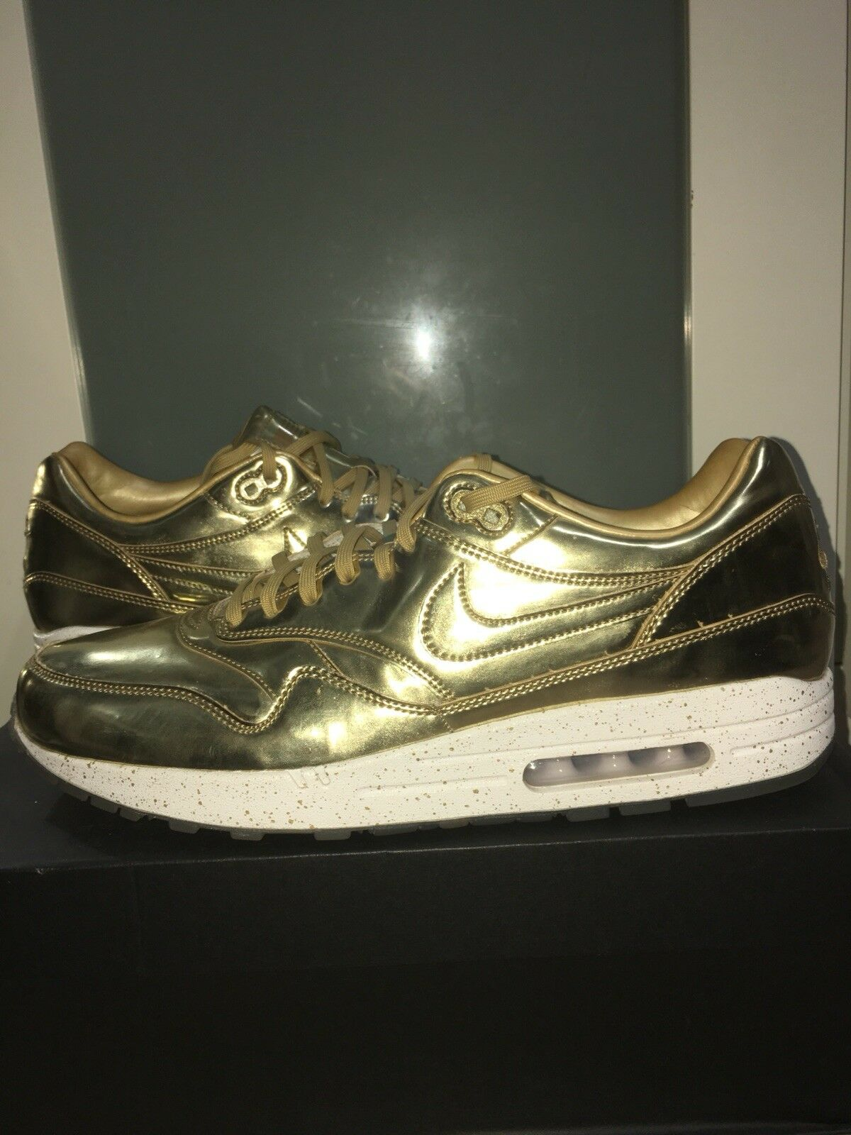 Nike Air Max 1 gold Olympic USA Size 13 Nike ID Box Rare Option