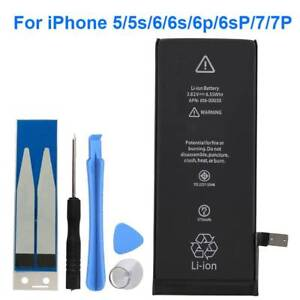 Replacement-Internal-Li-ion-Battery-for-iPhone-5-5s-6-6s-6S-Plus-7-Tools-Kit