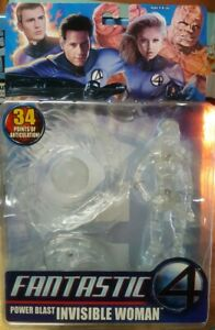 New /& Sealed Fantastic 4 Four Invisible Woman CLEAR Figure ToyBiz Marvel 2005