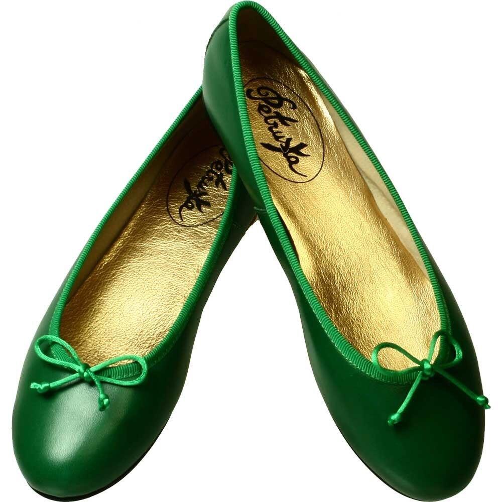 acquista marca SMERALDO-verde BALLERINA-Dindl scarpe di cuoio cuoio cuoio pelle liscia Ballerine Angkor  consegna veloce e spedizione gratuita per tutti gli ordini