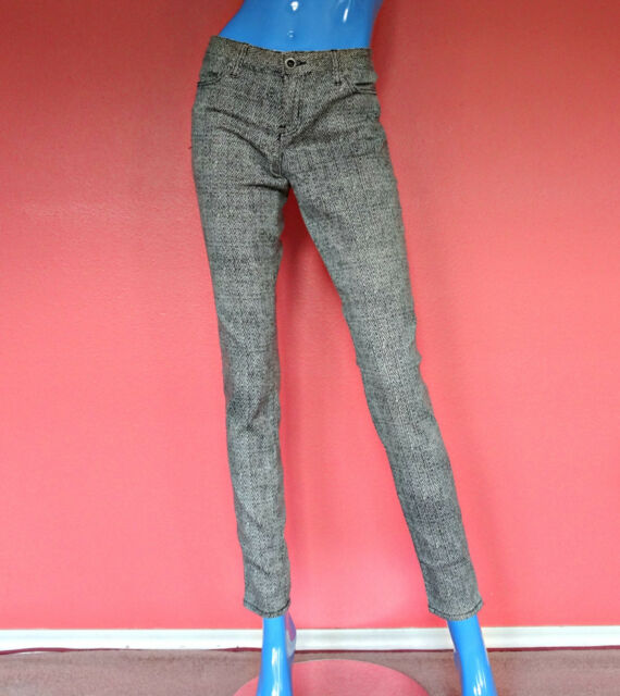 Hurley Skinny Jeans Leggings Pants 29 8 S M Hipster Slim Stretch Zig Zag Herring