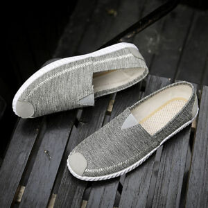 Men-039-s-Sneakers-Casual-Loafers-Slip-On-Low-Top-Canvas-Shoes-Driving