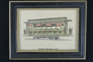 Vintage-Picture-Frame-of-San-Antonio-Rapid-Transit-Open-Horse-Trolley-Car