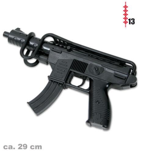 Uzi 29 cm avec Armstütze 13er Bandes de munitions jouet arme bras guerre