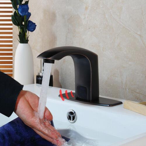Electronic Sensor Touchless Mixer Faucet Bathroom Oil Rubbed Bronze Tap