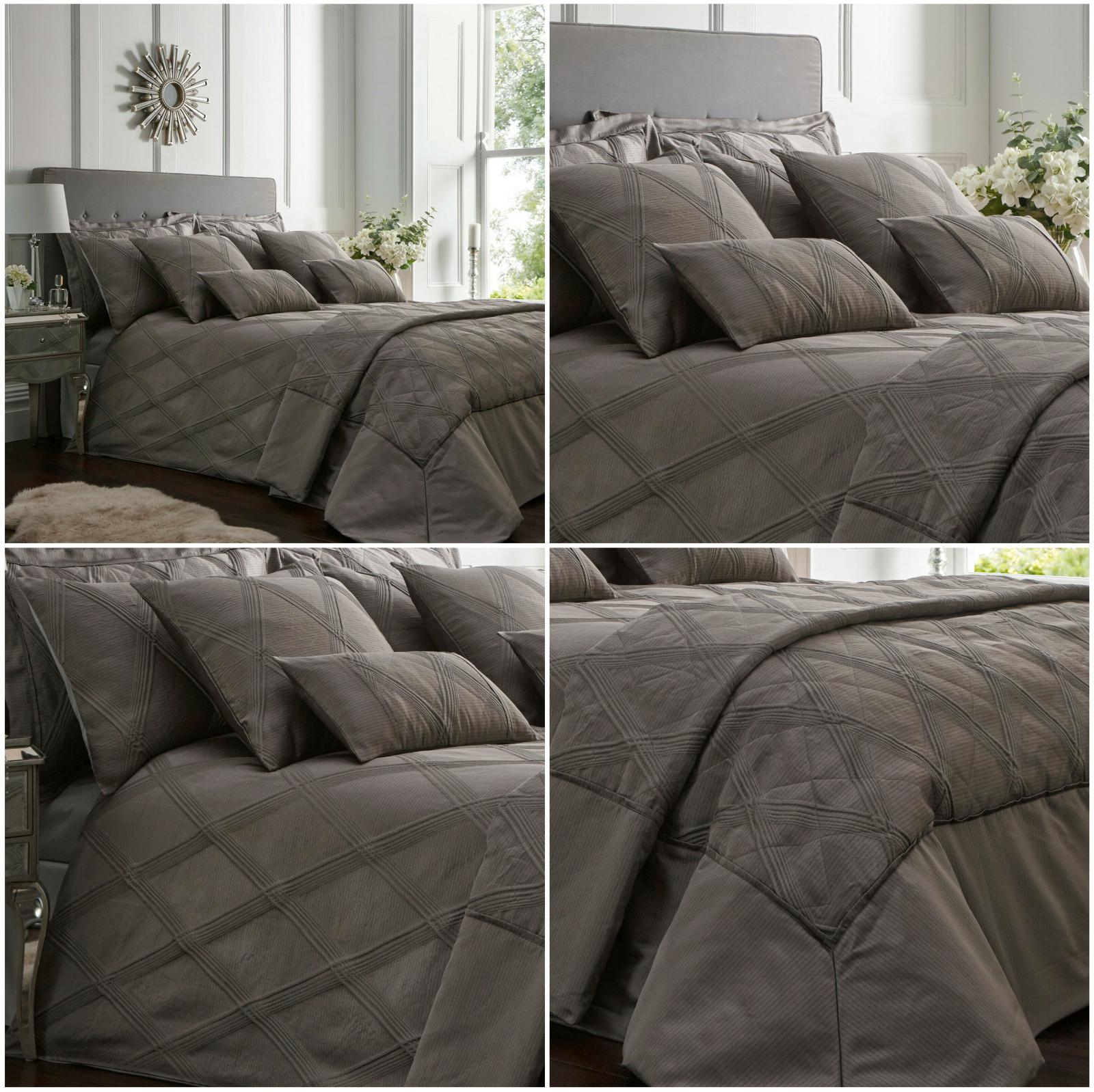 ORLANDO Modern Jacquard Duvet Cover Quilt Cover Set Bedding Range Charcoal