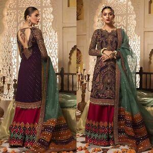 Pakistani-Maria-B-Wedding-Dress-Designer-Suit-Chiffon-Collection-Shalwar-Kameez
