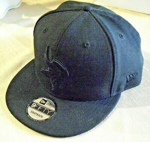 NFL-New-Era-Blackl-Minnesota-Viking-Adjustable-Baseball-Cap-Hat-9Fifty-Snapback