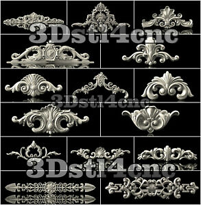 15-3D-STL-Models-Decor-Set-for-CNC-Router-Carving-Machine-Artcam-aspire-Cut3D