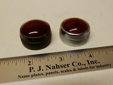 Large One Inch Diameter Red Glass Panel Indicator Lenses 2