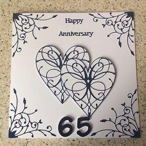 Image Is Loading Large Handmade Blue Sapphire Wedding Anniversary Card Happy