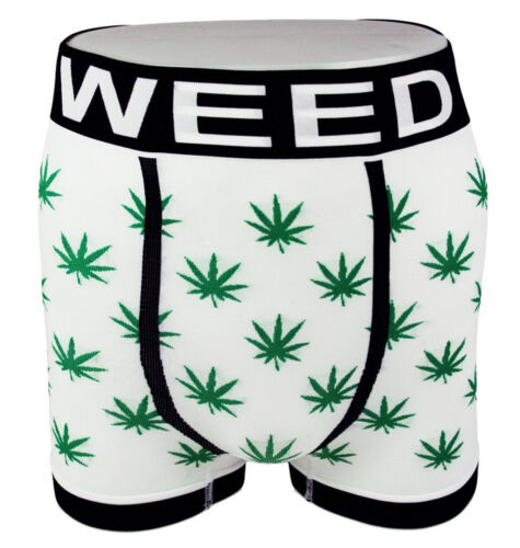 Ganja Marihuana 420 Gras Blatt Boxer Shorts Slip Unterwäsche 1-2-3 Packung