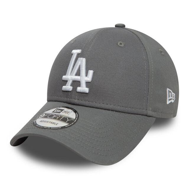 511758f57d4 NEW ERA MENS LA DODGERS BASEBALL CAP.9FORTY MLB LEAGUE ESSENTIAL GREY HAT  8W2 81